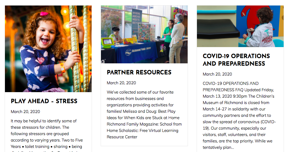 Here's Your Link To The Resources At The Children's Museum