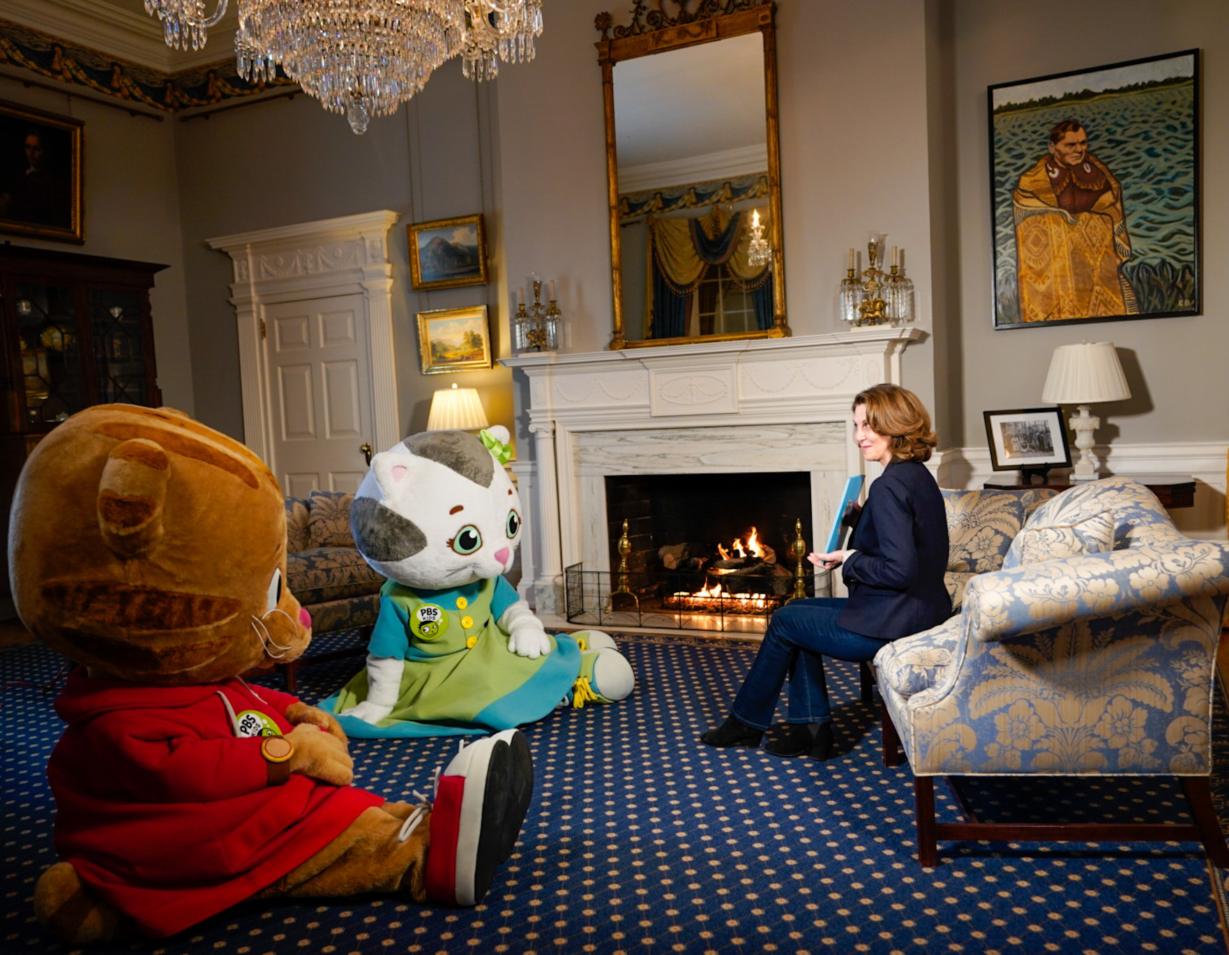 Daniel Tiger, Katerina Kittycat Join First Lady Of Virginia Pamela Northam For A Coronavirus Message To Children