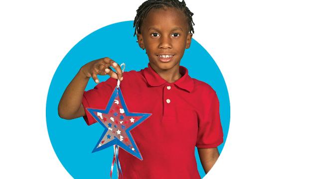 Make A Star-Spangled Suncatcher